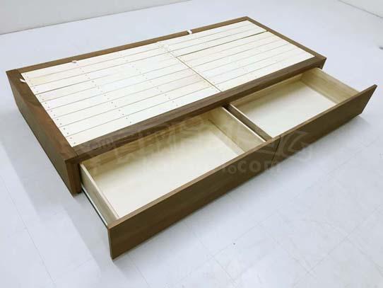 model/商品名:収納ベッド スモール ウォールナット材