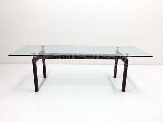 LC6ダイニングテーブル クリアガラス