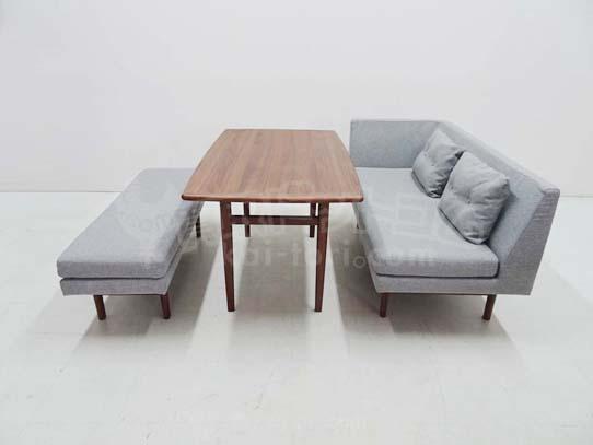 買取金額 30,000円 unico ウニコ NORD ノルド ダイニングテーブル ベンチソファセット