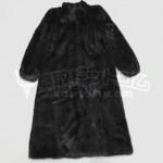 買取金額10,000円 ミンク毛皮 ロングコート黒 名前刺繍あり