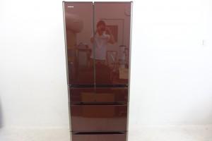 買取金額:40,000円 HITACHI 日立 フレンチ6ドア 大型 冷蔵庫 真空チルド R-G5200F 517L 2016年製