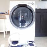 買取金額 45,000円 SHARP シャープ ドラム式洗濯乾燥機 ES-S7D-WL 7/3.5kg おしゃれ着コースヒートセンサー乾燥 2019年製