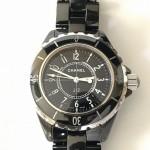 タイトル:買取金額120,000円 シャネルCHANEL J12黒レディース腕時計