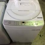 買取金額 3000円 SHARP/シャープ 全自動洗濯機 ES-GE6C-W 6.0㎏ 2019年製