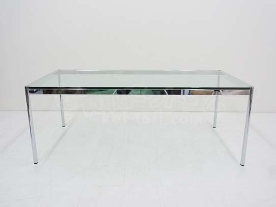 '13.12.23 USM Modular Furniture Haller / ハラー ガラス天板ミーティングテーブル