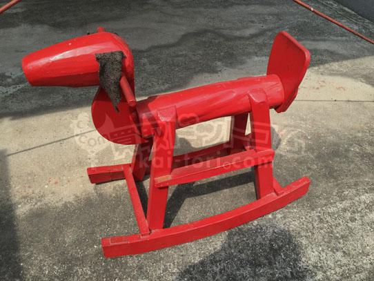 買取金額 2,000円 赤い犬の形の木馬 遊具