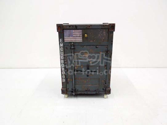 買取金額 8,000円 Military Container Box / ミリタリー コンテナ ウッド キャビネット