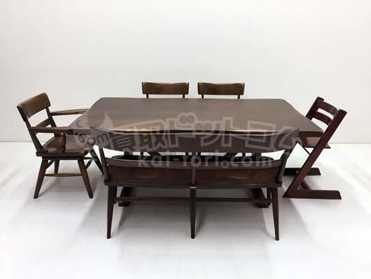 買取金額 80,000円 柏木工 ウィルダネス ダイニングテーブルセット