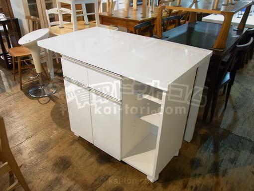 買取金額 3,000円 白鏡面 カウンターテーブル