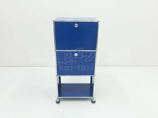 買取金額 35,000円 USMハラー システムキャビネット gentian blue