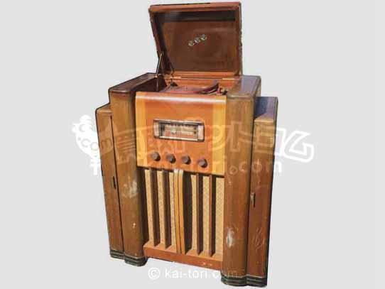 買取金額 10,000円 レトロアンティーク♪蓄音機 大型真空管ラジオ レコードプレーヤー