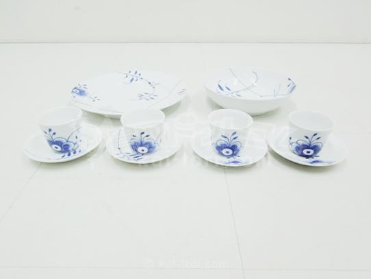 買取金額 5,000円 ROYAL COPENHAGEN ロイヤル コペンハーゲン Blue Fluted Mega ブルーフルーテッド 食器セット