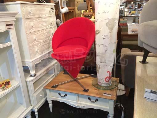 買取金額40,000円 vitra/ヴィトラ Cone Chair/コーンチェア レッド ヴァーナー・パントン)