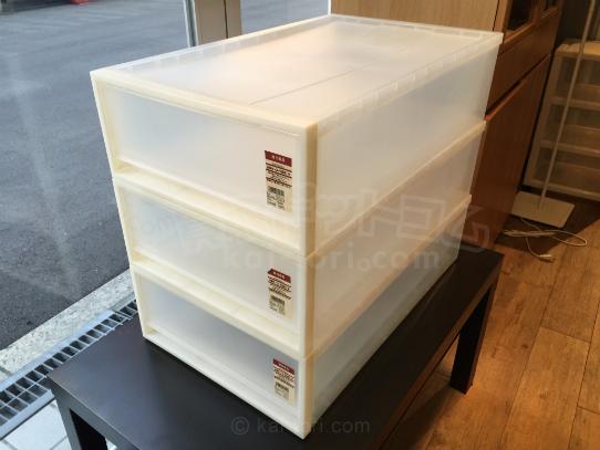 買取金額 ¥300 MUJI/無印良品 PP衣装ケース引出式 3個