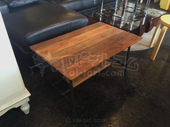 買取金額5000円  wood&iron cofe table