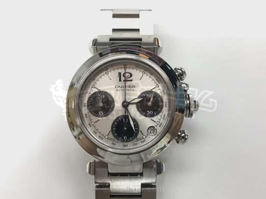 買取金額110,000円 カルティエ パシャCクロノ 腕時計 中古ABランク