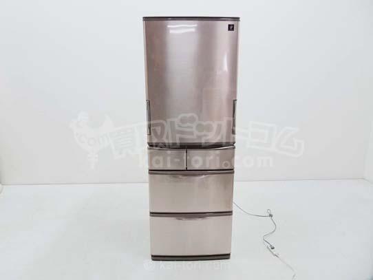 買取金額 ¥23,000 SHARP シャープ 冷蔵庫プラズマクラスター搭載 どっちもドア SJ-XW47A-T 2014年製