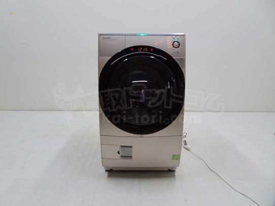 買取金額 18,000円 SHARP シャープ ドラム式洗濯乾燥機 プラズマクラスター 9キロ ES-Z110-NR 2014年製