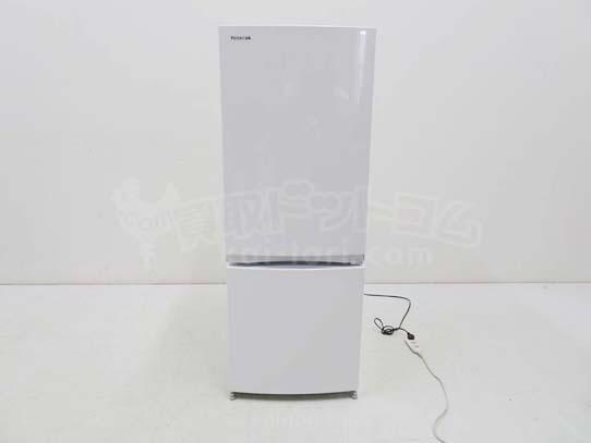買取金額 5,000円  TOSHIBA 東芝  2ドア冷蔵庫 GR-M15BS-W 2018年製