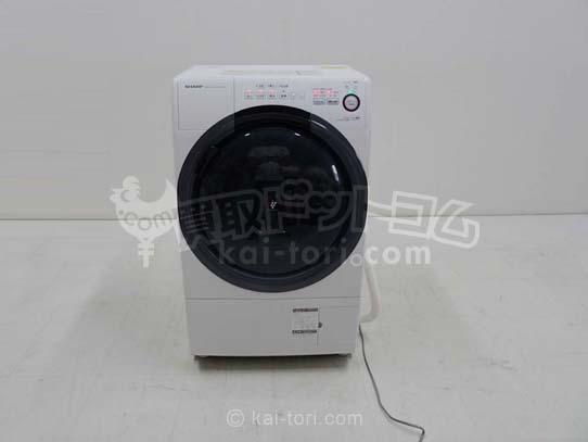 買取金額 35,000円 ドラム式洗濯乾燥機 7キロ シャープ ES-S70-WL 15年製
