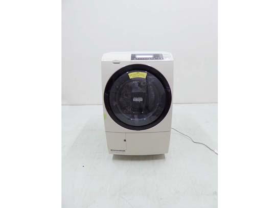 買取金額 10,000円  HITACHI 日立 ドラム洗濯機乾燥機 ヒートリサイクル 風アイロン ビッグドラムスリム 10キロ BD-S8700R 2015年製