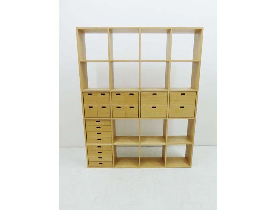 買取金額 20,000円 無印良品  スタッキングシェルフ 本棚  収納ボックス 6個付セット 4段5列