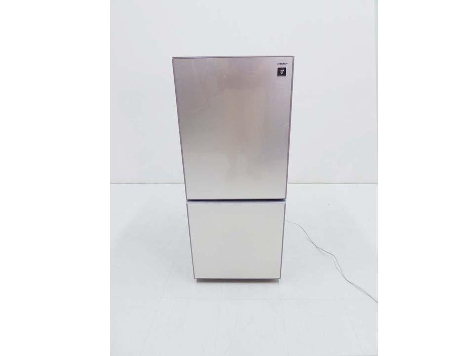 買取金額 4,000円 SHARP シャープ ガラストップ プラズマクラスター 冷蔵庫 SJ-GD14C-C 137L 2017年製