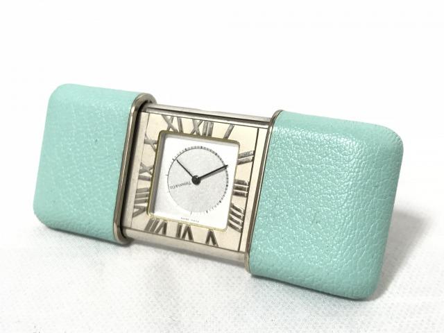 買取金額10,000円 ティファニー アトラス トラベルウォッチ置時計