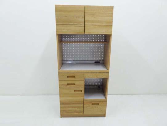 買取金額20,000円 unico ウニコ HUTTE ヒュッテ S キッチンボード 食器棚