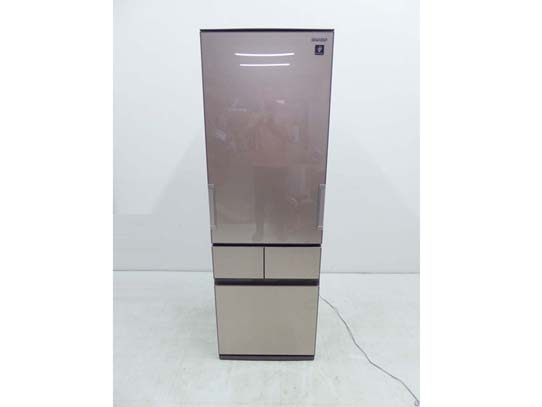 買取金額 35,000円 SHARP シャープ どっちもドア プラズマクラスター冷蔵庫 SJ-GT42D-T 415L 2018年製