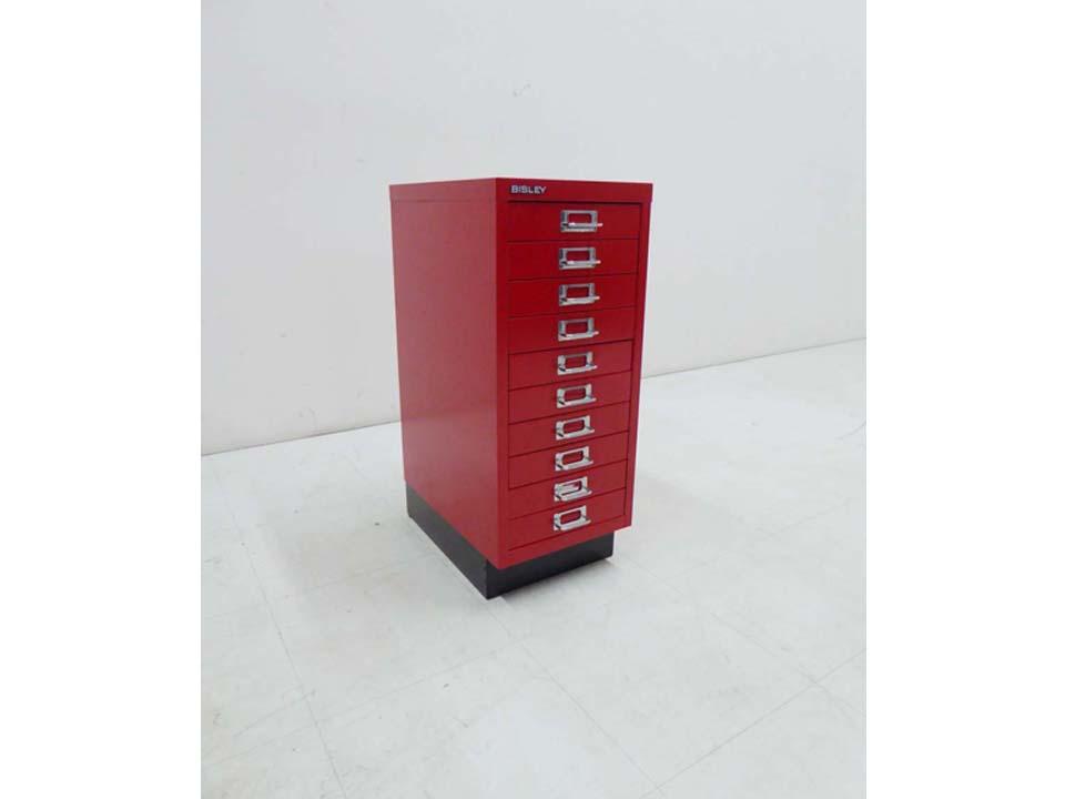 買取金額8,000円 BISLEY ビスレー BASIC ベーシック 収納 キャビネット 赤