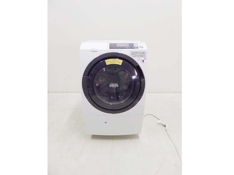 買取金額 32,000円 HITACHI 日立 ドラム洗濯乾燥機 ヒートリサイクル 風アイロン ビッグドラム スリム BD-SG100AL 2017年製