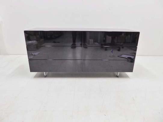 買取金額70,000円 Cassina ixc カッシーナ LOTUS ロータス 2列3段ドロアーキャビネット グロッシーブラック