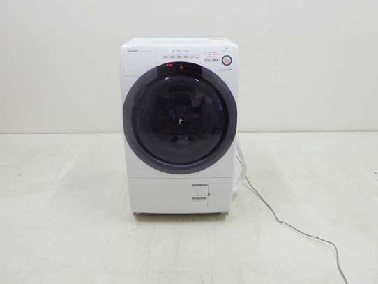 買取金額  40,000円 SHARP シャープ 2020年製 コンパクト ドラム式洗濯乾燥機 ES-S7D-WR 7キロ