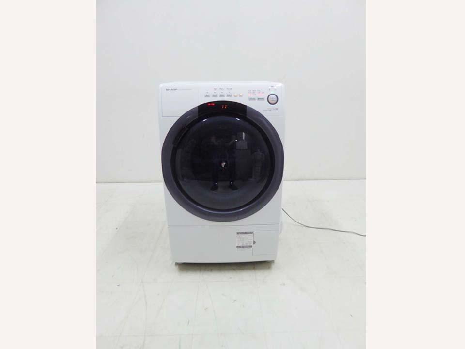 買取金額  50,000円 SHARP シャープ 2020年製 コンパクト ドラム式洗濯乾燥機 ES-S7D-WR 7キロ