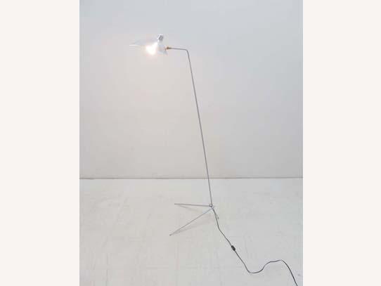 買取金額15,000円 IDEE イデー 限定カラー LAMPADAIRE ランパデール アン ルミエール セルジュムーユ フロアランプ 照明 シルバー