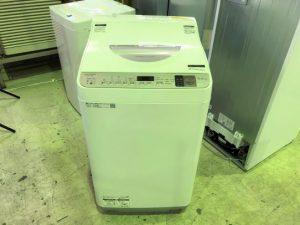 買取金額 5,000円 SHARP シャープ 洗濯乾燥機 5.5kg/3.5kg ES-TX5D-S 2020年製