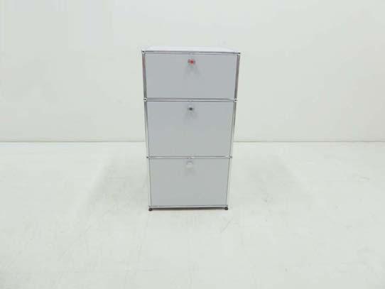 買取金額 40,000円 USMハラー モジュラーファニチャー 1列3段 収納 キャビネット 本棚 ブックシェルフ ライトグレー